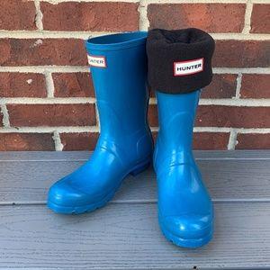 Hunter Original Short Matte Rain Boot & Socks